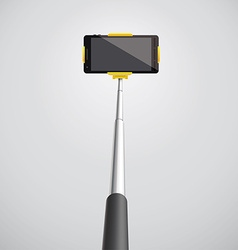 selfie monopod with phone eps 10 3d vector image vector image