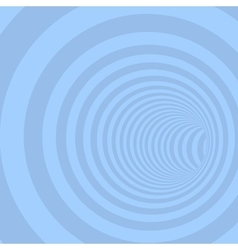 Blue Circle Striped Abstract Tunnel vector image
