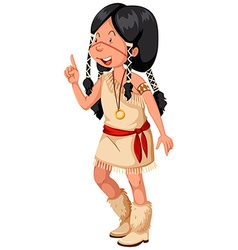 Native american indian in traditional costume vector
