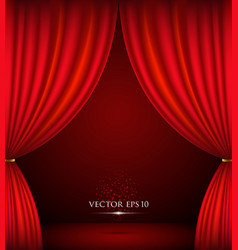 Red theater curtain background vector image