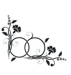Rings with floral decor vector image vector image