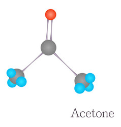 acetone 3d molecule chemical science vector image vector image