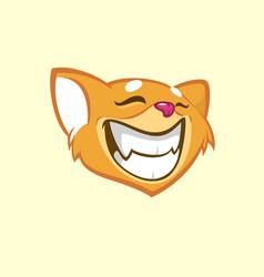 cartoon chipmunk head vector image