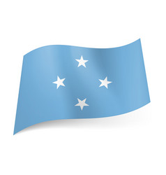 Flag of federated states of micronesia four white vector