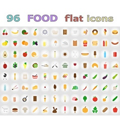 food flat icons 01 vector image