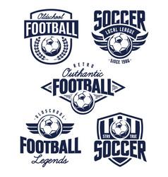 football emblems vector image vector image