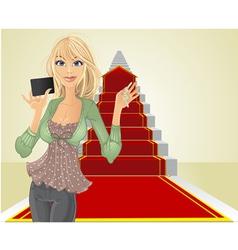 real estate agent keys vector image