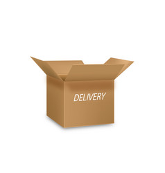 delivery open box background image vector image