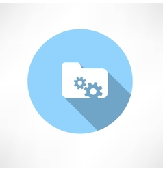 folder icon with gears vector image vector image