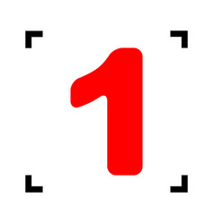 number 1 sign design template element red vector image vector image