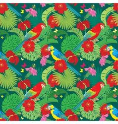 parrot flower seamless 380 vector image