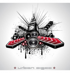 urban grunge element vector image vector image