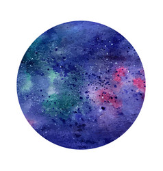 watercolor abstract space circle cosmic vector image vector image