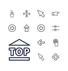 13 cursor icons vector