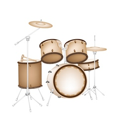 A Beautiful Drum Kit on White Background vector image