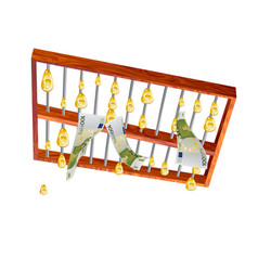 Abacus and money vector
