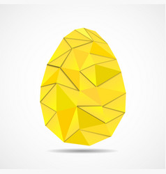 Abstract easter egg of triangles with shadows vector