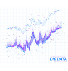 Abstract financial big data graph vector