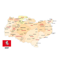 administrative map english county kent vector image