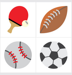 ball and sport vector image