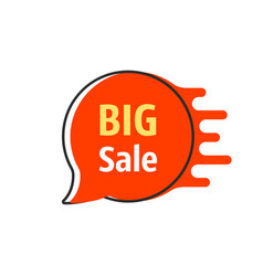 big sale red thin line bubble label vector image