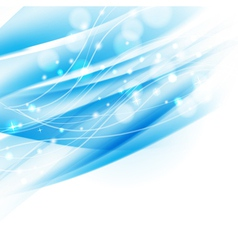 blue abstract shiny background vector image vector image