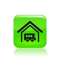 Bus stop icon vector