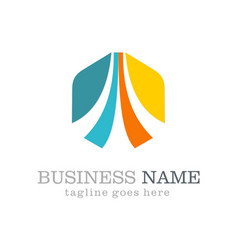 business vision polygon logo vector image