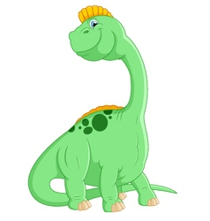 Cartoon cute dinosaur vector image