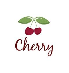 Cherry design template vector