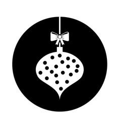 Christmas ball with bow hanging vector