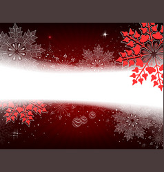 Christmas dark red design with a small tree balls vector