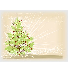 Christmas tree card image vector image vector image