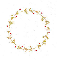 christmas wreath round frames set hand drawn vector image
