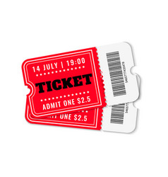 cinema tickets concert movie theater ticket vector image