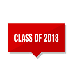 Class of 2018 red tag vector