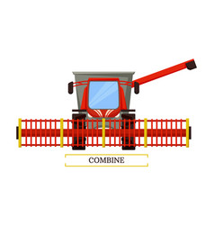 Combine agricultural machine vector