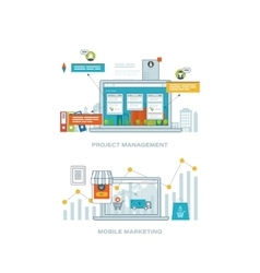 Consulting project management mobile marketing vector