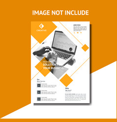 creative orange corporate flyer template vector image