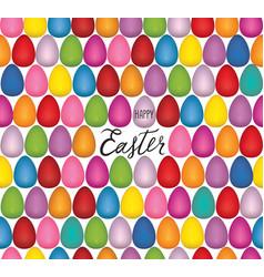 easter egg seamless pattern festive spring vector image