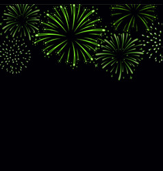 Firework sparkle background card beautiful bright vector