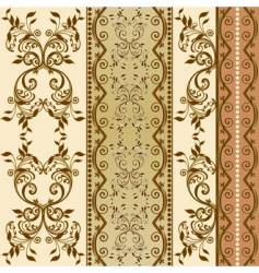 Floral decorative wallpaper vector