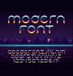 futuristic font vector image