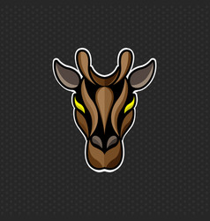 Giraffe logo design template giraffe head icon vector