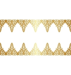 Gold floral borler vector