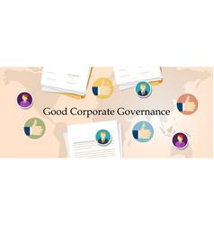 Good corporate governance concept accountable vector