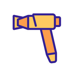 Hair dryer gun with removable air filter icon vector