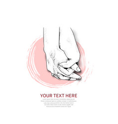 Hand holding design drawn isolated on white vector