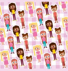 happy cartoon kids background vector image