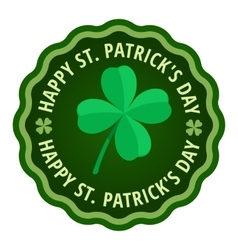 Happy Saint Patricks day greeting card label vector image
